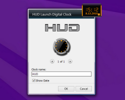 hud launch clock settings