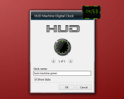hud machine green clock settings