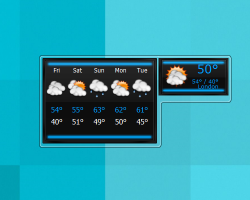 Virus Blue Weather gadget