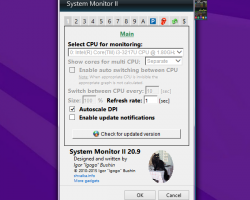 System Monitor settings
