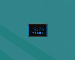 hud evolution digital clock