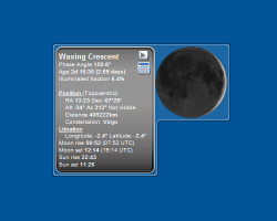 Moon Phase II widget