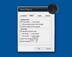 Moon Phase II widget settings
