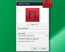 Adobe's Clocks settings