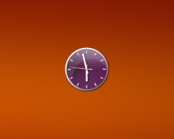 Aero X Purple Clock