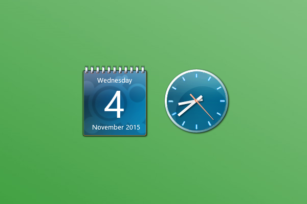 Calendar Wallpaper With Clock : Aero sky clock and calendar windows gadget win gadgets