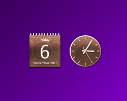 Brown Calendar And Clock
