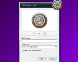 Christmas Clock Gadget settings