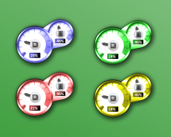 Coloured CPU meter