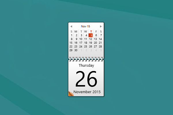 Monthly Calendar Gadget For Windows : Flame calendar windows gadget win gadgets
