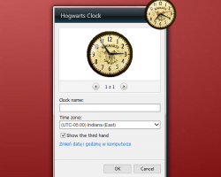 Hogwarts Clock settings