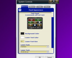 Desktop System Control settings