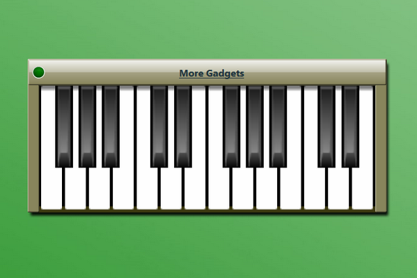 Virtual Piano Windows 10 Gadget - Win10Gadgets